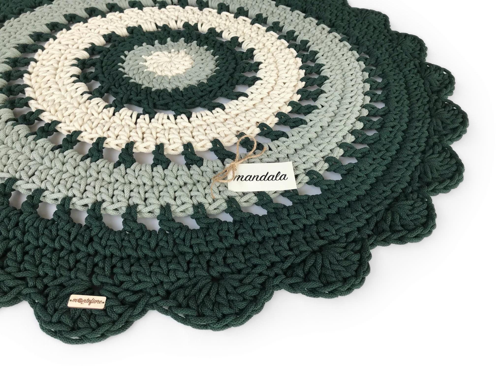 MANDALA Dywan okrągły średnica 100 cm 3 kolory