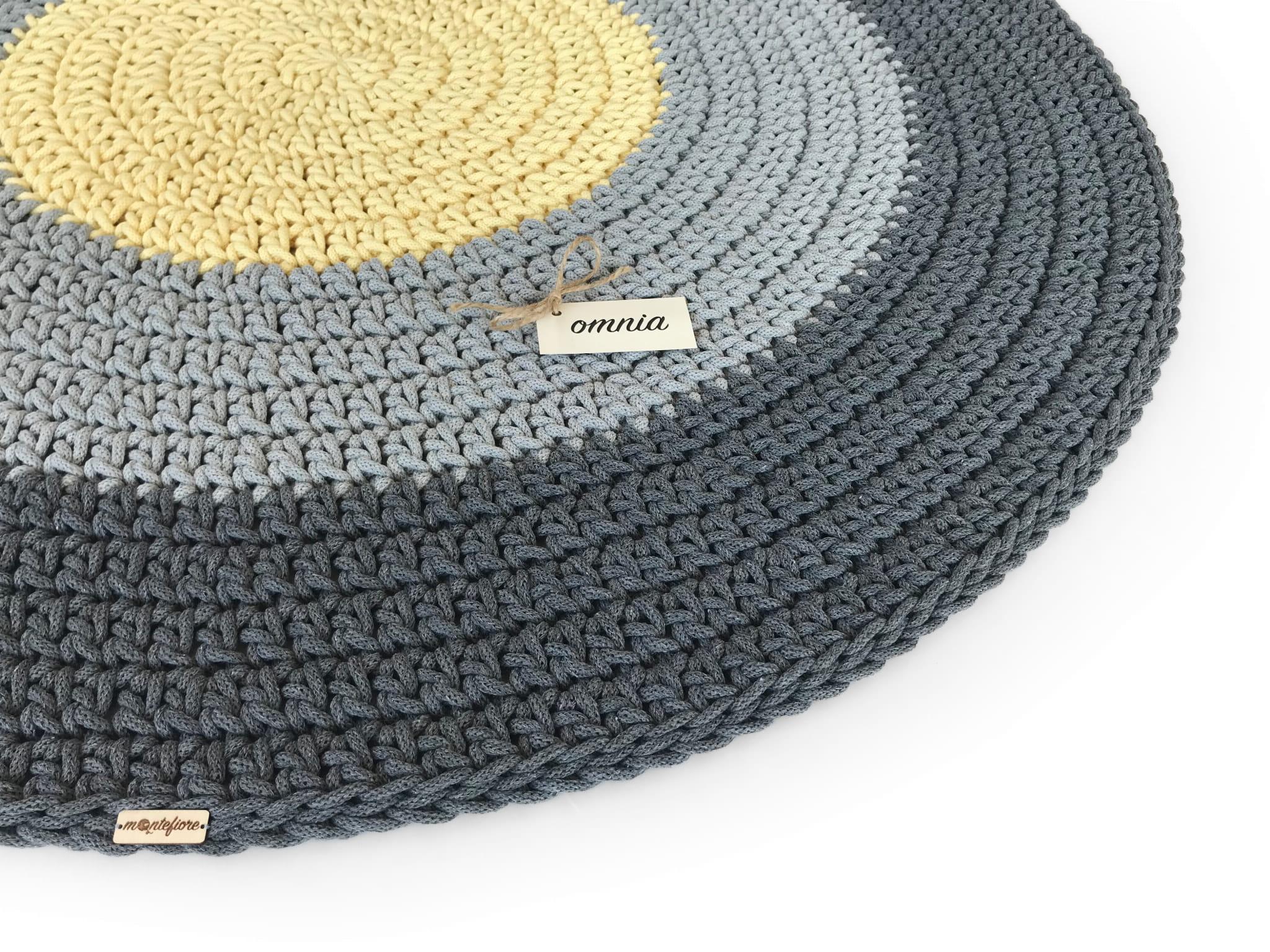 OMNIA Dywan okrągły średnica 120 cm 3 kolory